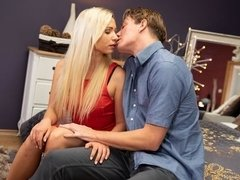 Creampie pounding for German blonde