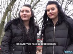 Fake agent fucks teen twin sisters for money