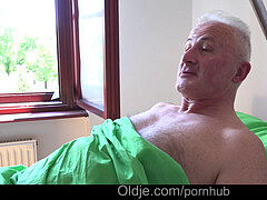 buxom youthful nurse plumbing sick grandpa until cumming into her mouth