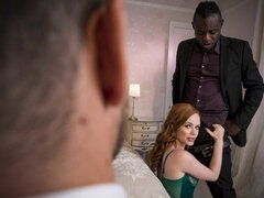 Great-looking redhead hottie Ella Hughes fucked by a big black cock