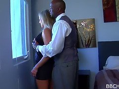 Cuckold watches wife bang big black cock and gets grubby seconds
