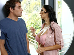 Ava Addams bribes her son's friend silence with a steamy fucking