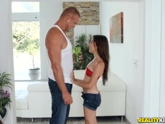 Dad fucks the shit out of his daughter's girl friend Freya Von Doom