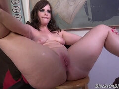 Horny doxy incredible interracial porn