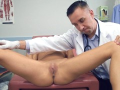 Dr. Lee examines Kara Faux's pristine pussy