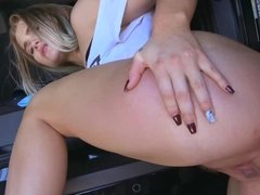 Stunning Brooke Karter getting fucked in the van