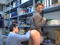 Sexy body of slutty office female blows boss' mind