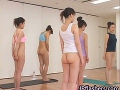 Japanese chicks practicing Asian naked part2