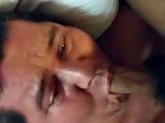 Mature Latino Facefuck