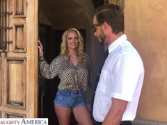 Big-boobed MILF Ava Addams is having fun with a horny nerd