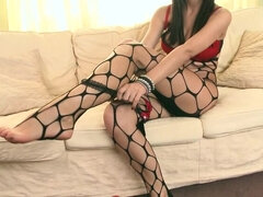 Fantastic fishnet seduction!