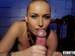 Horny mistress domination with swallow