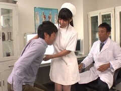 Awesome nurse Yu Shinohara gets fucked hard