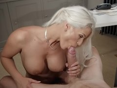 White-haired goddess of love show how she loves big cocks