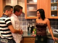 Couples swapping partner in wacky bisexual adult video