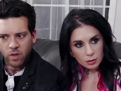 Aroused Undersized Babysitter Auditions for Joanna Angel & BF