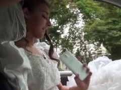 Hitchhiking legal teen fucked in a wedding dress