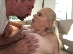 Old granny gets her cunt licked and fucked carefully