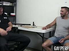 Hot suspect strip searched and disciplined with raw cock