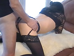 Petgirl Crossdresser Fucked by Older Master