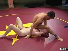 Big dick gay domination with cum eating