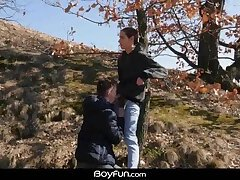 Boyfun - Johnny Polak and Jake Olsen Suck Each Other Off Outdoors And Then Fuck Indoors