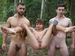 Outdoor threesome with Vito, James Huck, and Mathew