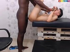 Black hero fucks white asshole live on Cruisingcams.com