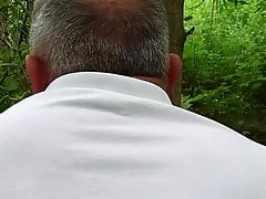 Quick fuck in the forest with 68 yo grandpa