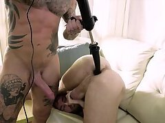 Dylan James Uses A nail Machine On Max Adonis