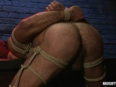 Hot gay bound and anal cumshot