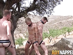 Sean Taylor fucks his slaves Reece Bentley and Chris Jansen