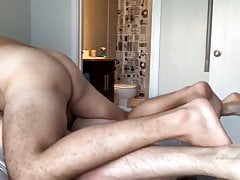 Hotel hook-up between Daddy & Twink