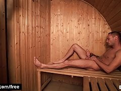 Athletic Dude Marty And Bear Jerrys Making Out In Sauna