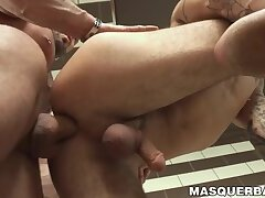 Inked and pierced hunk fucks his partner after blowjob