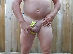 yellow thong