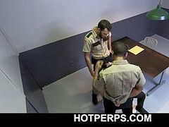 Officers interrogating suspect completes in gonzo gay threeway-HOTPERPS.COM