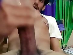 Indian lad smokes and strokes