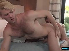Big dick son anal with cumshot