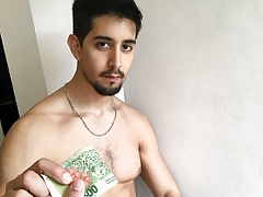 Hot Amateur Stud Latino Boy Paid Cash To Fuck Stranger