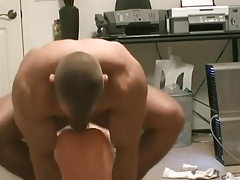 Muscled dude fucks his rubber doll