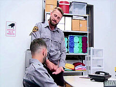 pervy homosexual Cop Blackmails His Straight fucking partner