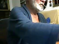 Italian Grandpa Stroke and Cum