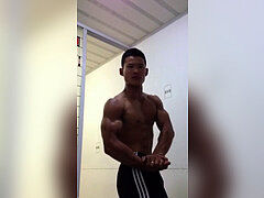 chinese Muscle in restroom